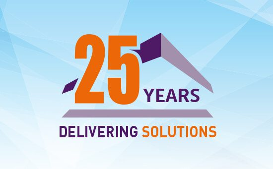 25 years delivering solutions logo