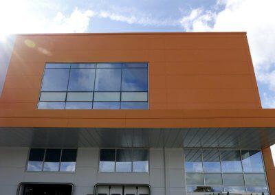 L &S Front facade sun flair