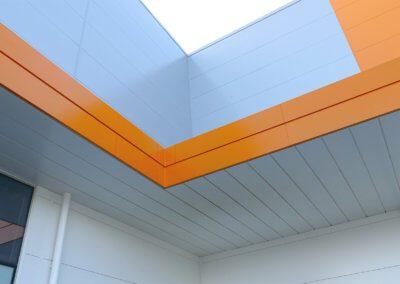 L&S Under angled corner canopy 2