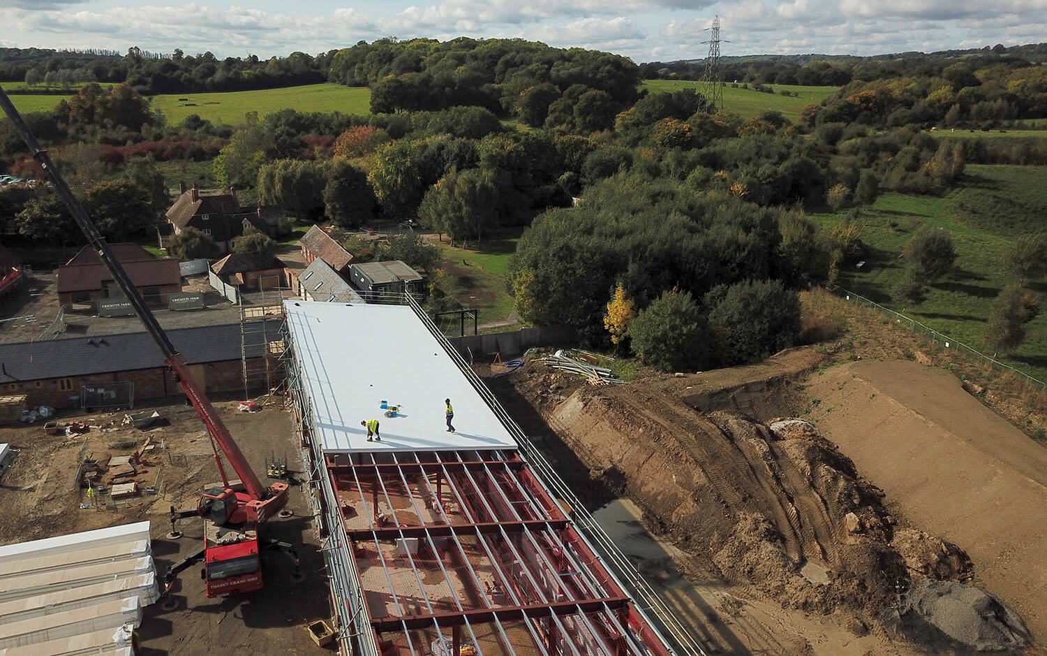 Cricketts Farm Kent Ics Industrial Roofing And Cladding