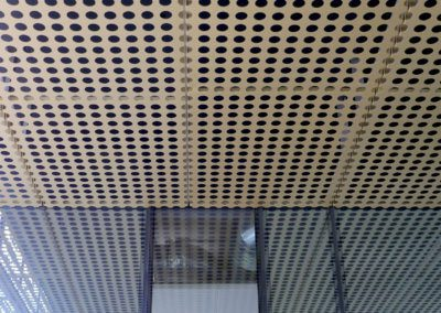 AE Building - Cladding + glass joining detail.