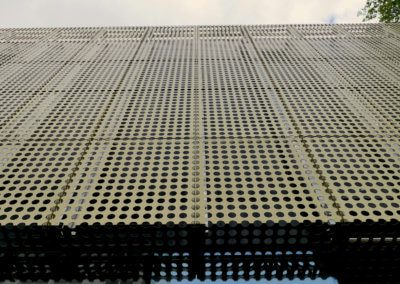 AE building - Wall cladding panel jointing detail.