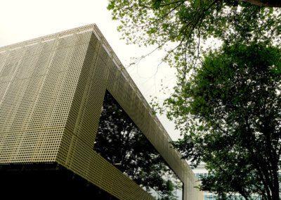 AE building - Cladding panel corner detail.