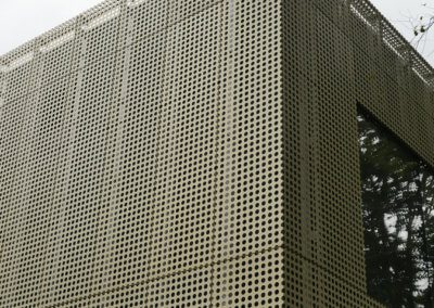 AE building - Cladding wrapping corner