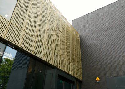AE building - Cladding wall abuttment.